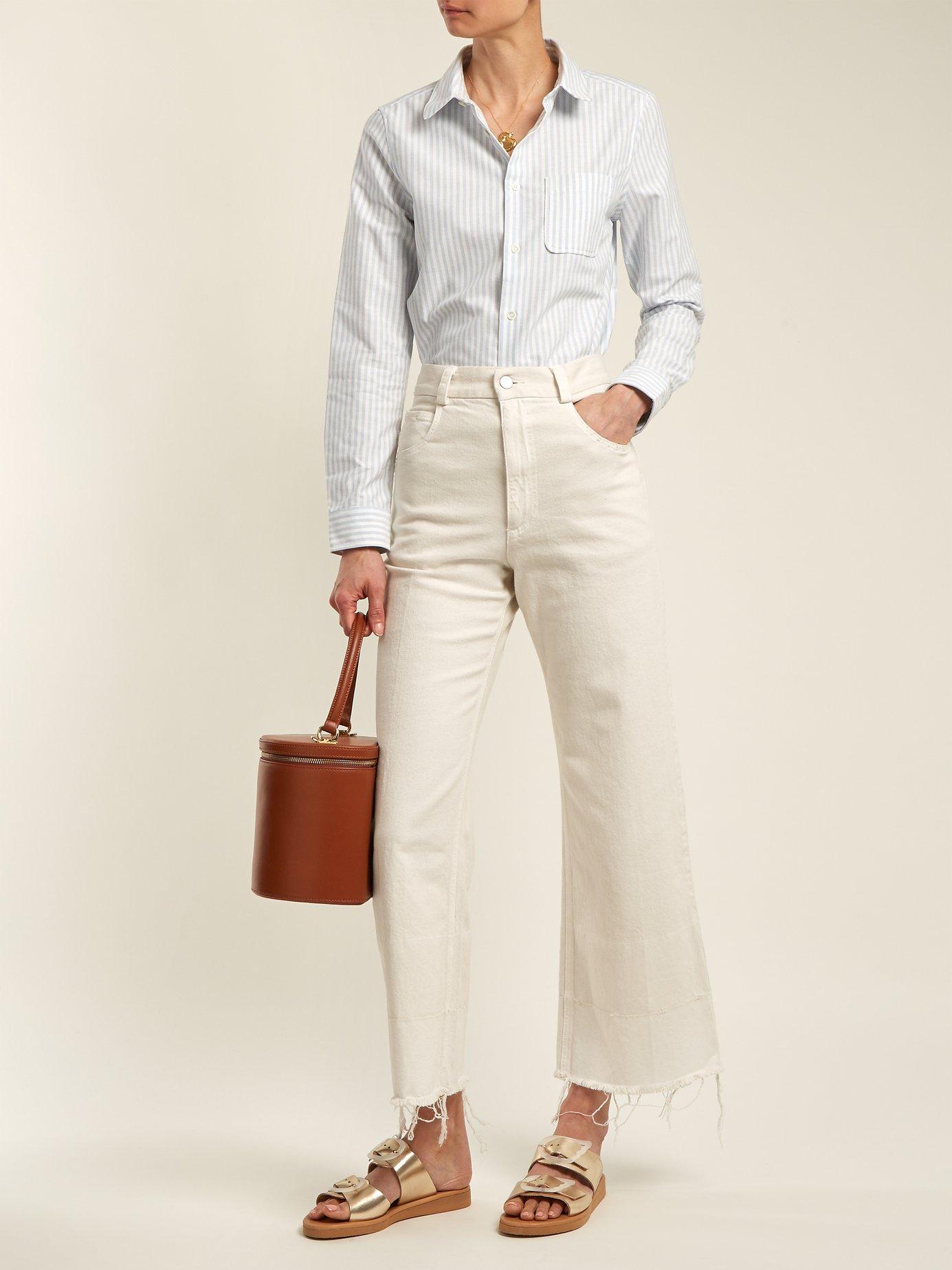 Femme oxford-cotton shirt by A.P.C.