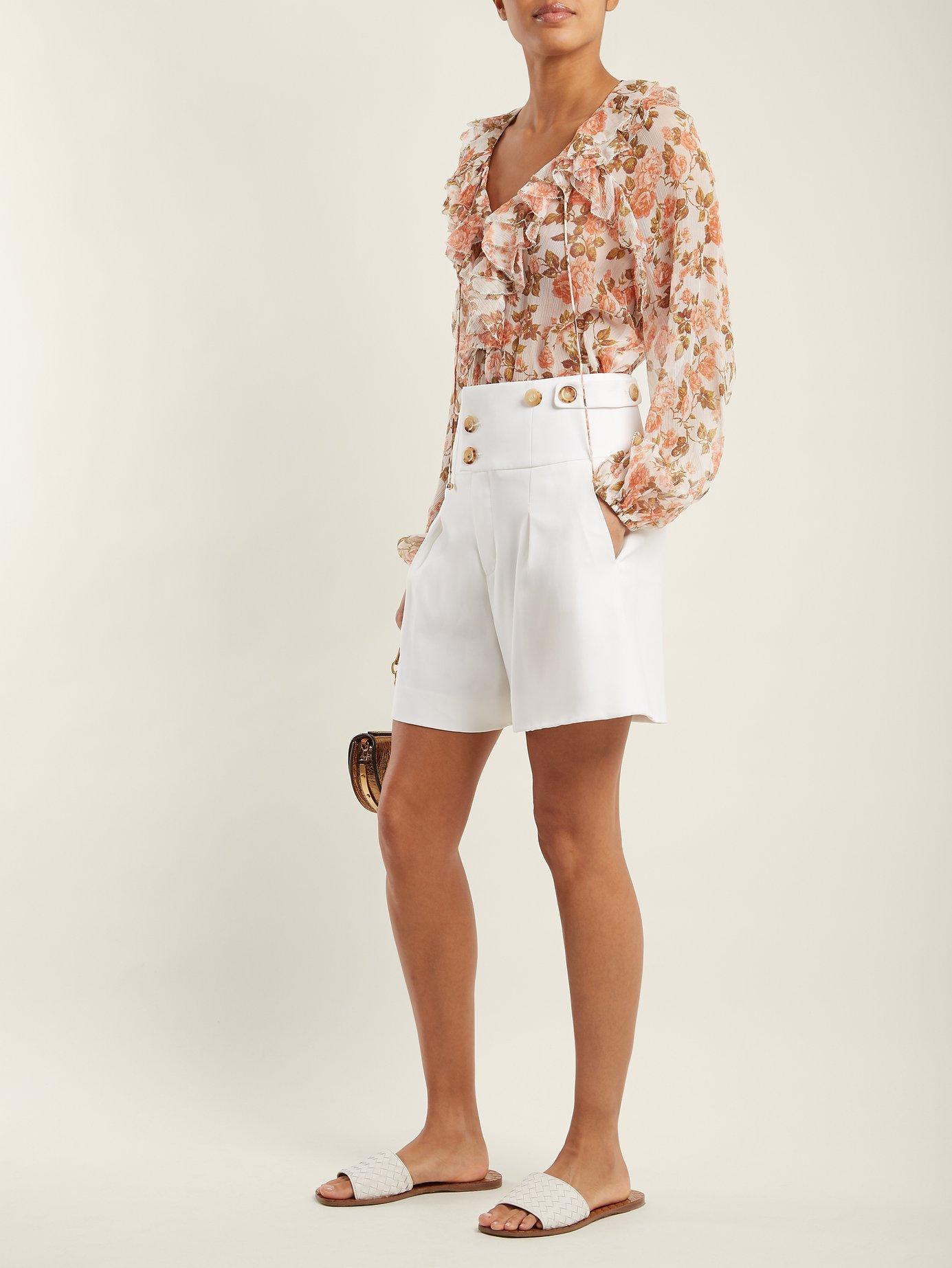 Radiate floral-print silk blouse by Zimmermann