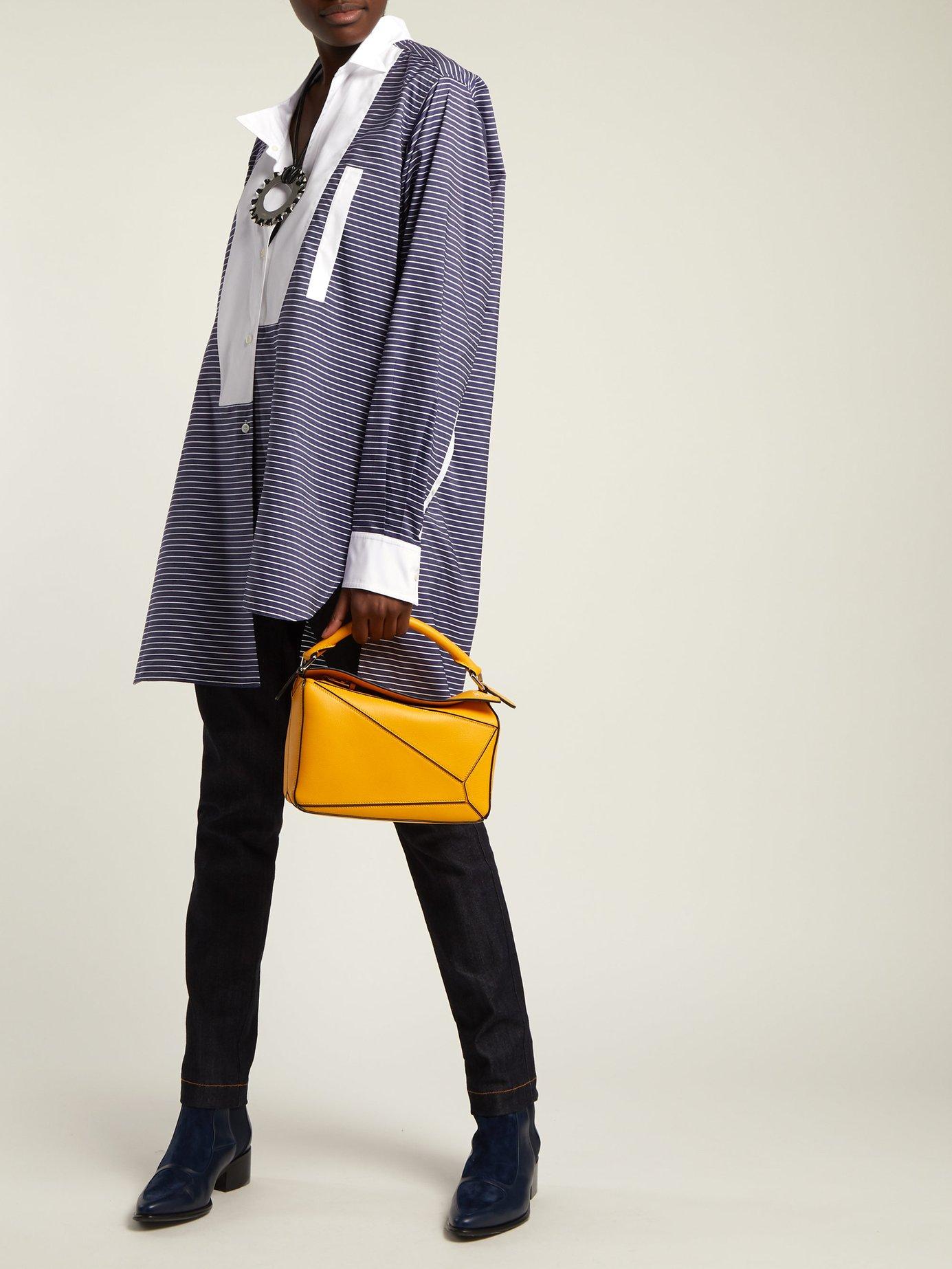 Asymmetric bib-front cotton shirt by Loewe