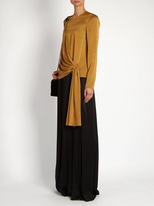 Draped-front satin-crepe blouse by Lanvin