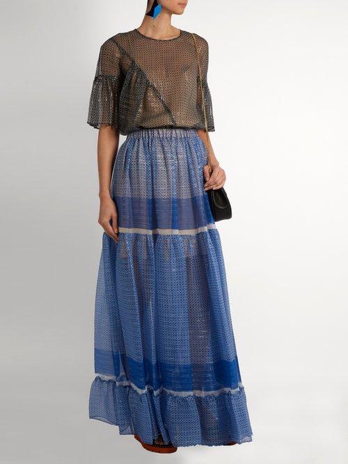 Star-print silk-blend top by Stella Mccartney
