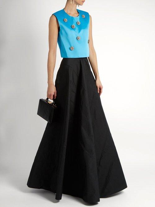 Embellished duchess-satin top by Maison Rabih Kayrouz