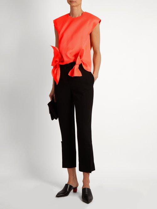 Tie-front sleeveless top by Maison Rabih Kayrouz