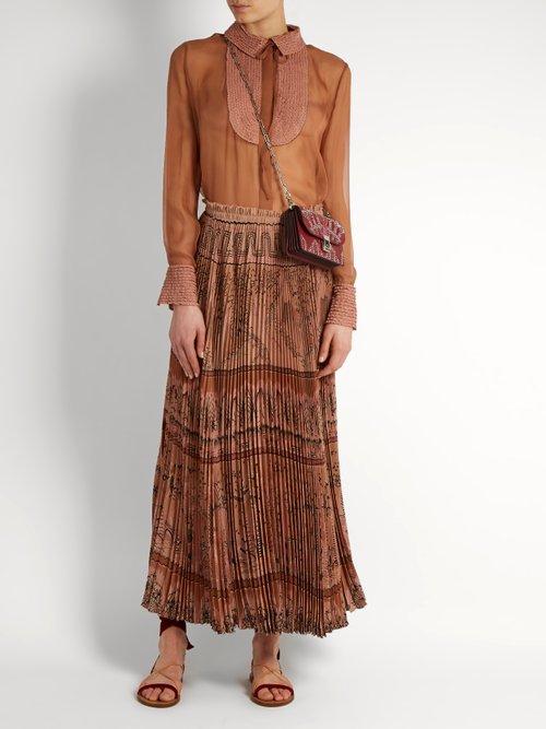 Semi-sheer silk-chiffon blouse by Valentino