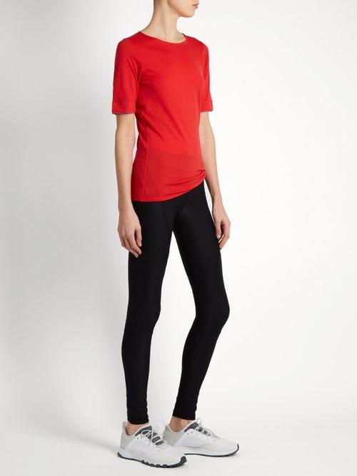 Wool-blend running T-shirt by Aeance