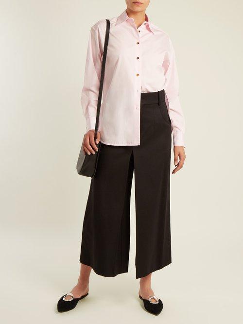 Maria cotton-poplin shirt by Khaite
