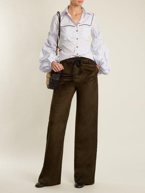 Ambrose micro floral-print cotton shirt by Caroline Constas