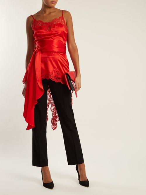 Fishtail-hem silk-satin cami top by Givenchy