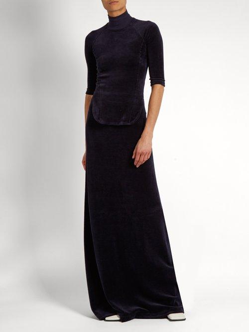 X Juicy Couture cotton-blend velour top by Vetements