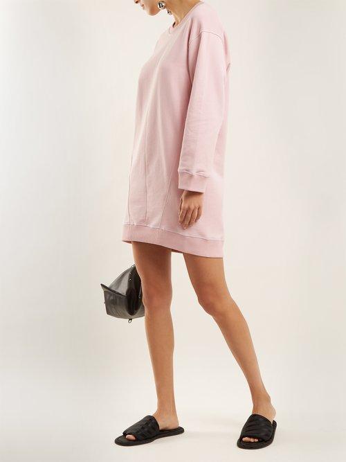 Round-neck cotton sweatshirt dress by Mm6 Maison Margiela