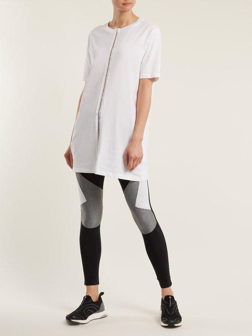Ladder-trim cotton T-shirt by Charli Cohen