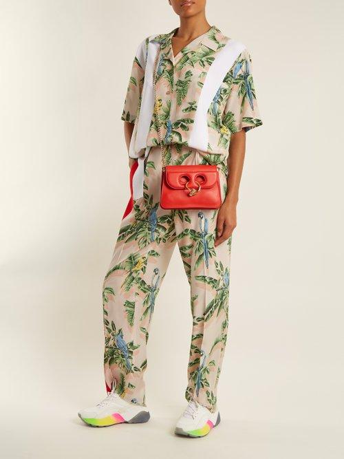 Parrot-print silk crepe de Chine shirt by Stella Mccartney