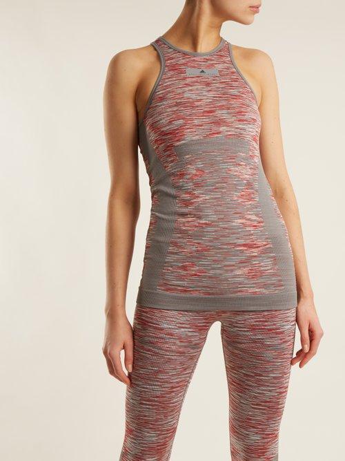 Yoga seamless space-dye tank top by Adidas By Stella Mccartney