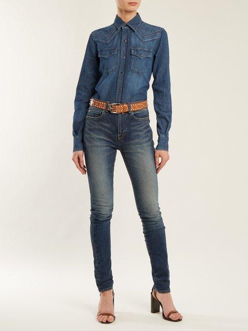 Western-yoke denim shirt by Saint Laurent