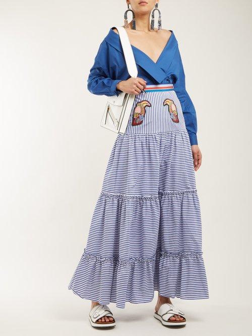 Tie-waist stretch-cotton wrap top by Stella Jean