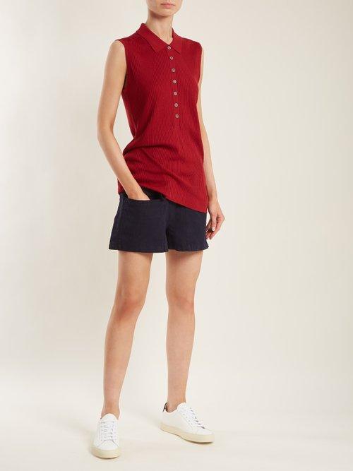 Golf ribbed-knit sleeveless top by Falke
