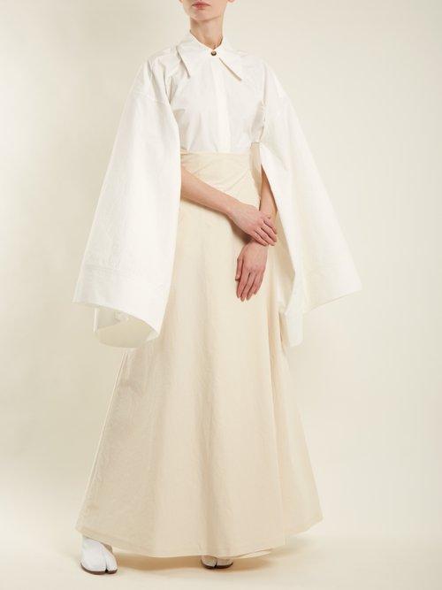 Kimono-sleeve cotton shirt by A.W.A.K.E.