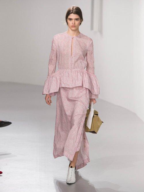 Liberty-print peplum blouse by Loewe