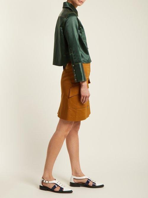 Rebecca Chinz contrast-stitch satin shirt by Acne Studios