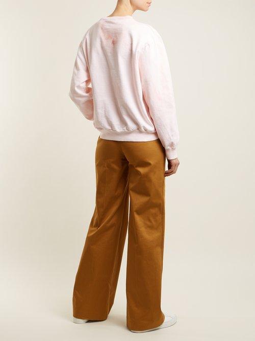 Crew-neck cotton sweatshirt by Audrey Louise Reynolds