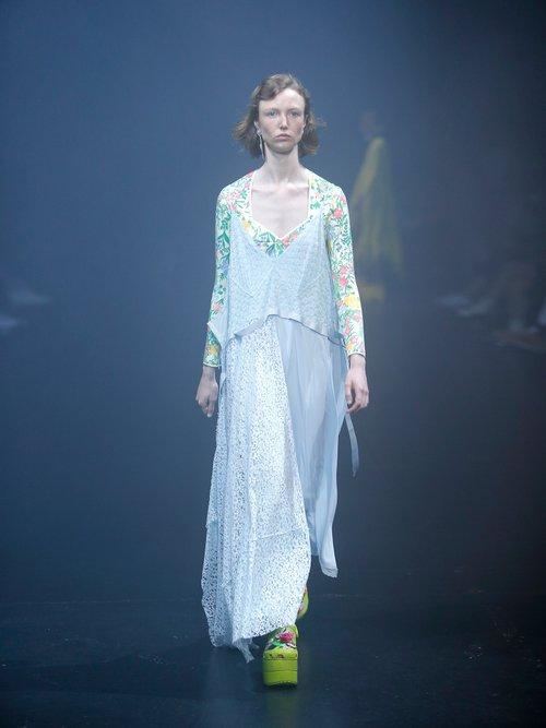 Floral-print neoprene top by Balenciaga