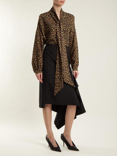 Leopard print oversized top by Balenciaga