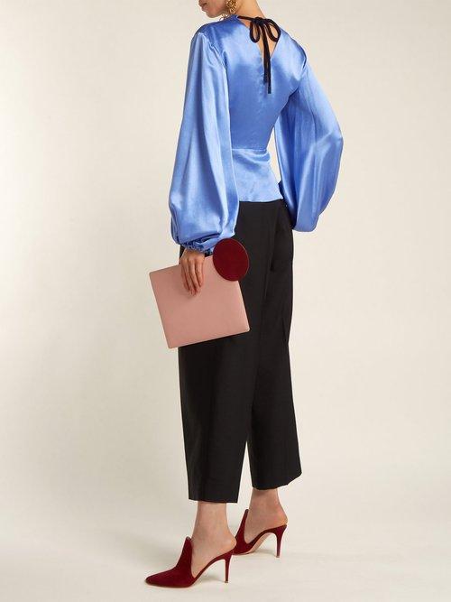 Lada V-neck silk blouse by Roksanda