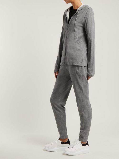 Zip-front hooded sweatshirt by Falke