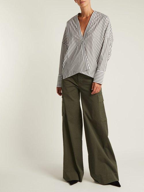 Sabine striped cotton shirt by Nili Lotan