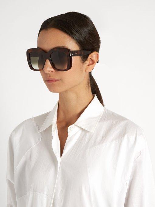 Where To Celine Sunglasses  oversized d frame acetate sunglasses céline eyewear