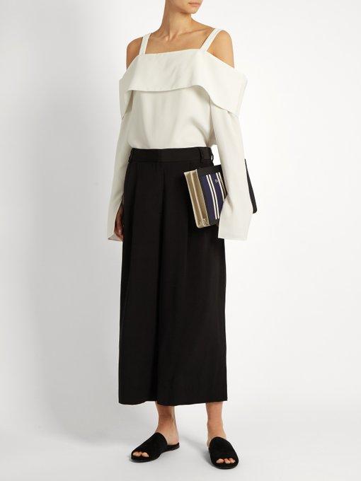 Cropped silk trousers | Tibi