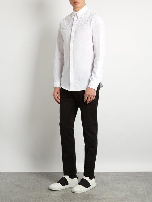 MARCELO BURLON COUNTY OF MILAN Asier Cotton Shirt in Colour: White