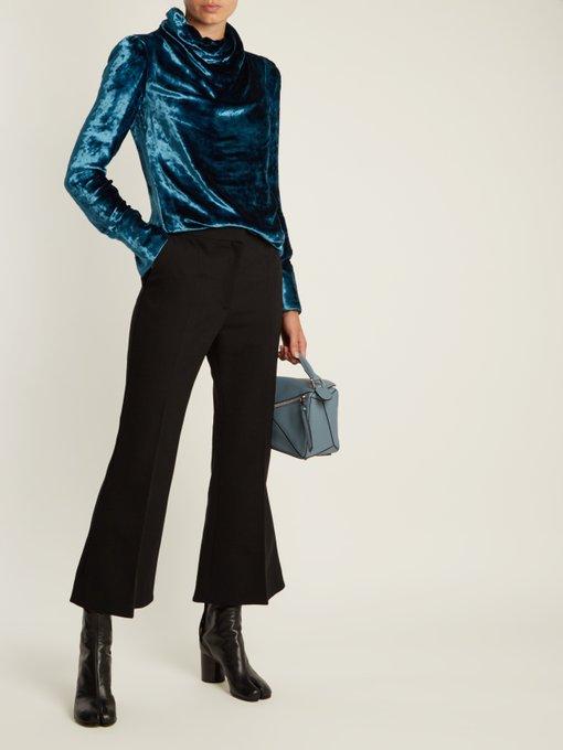 MAISON MARTIN MARGIELA Tabi Split-Toe Leather Ankle Boots in Colour: Black