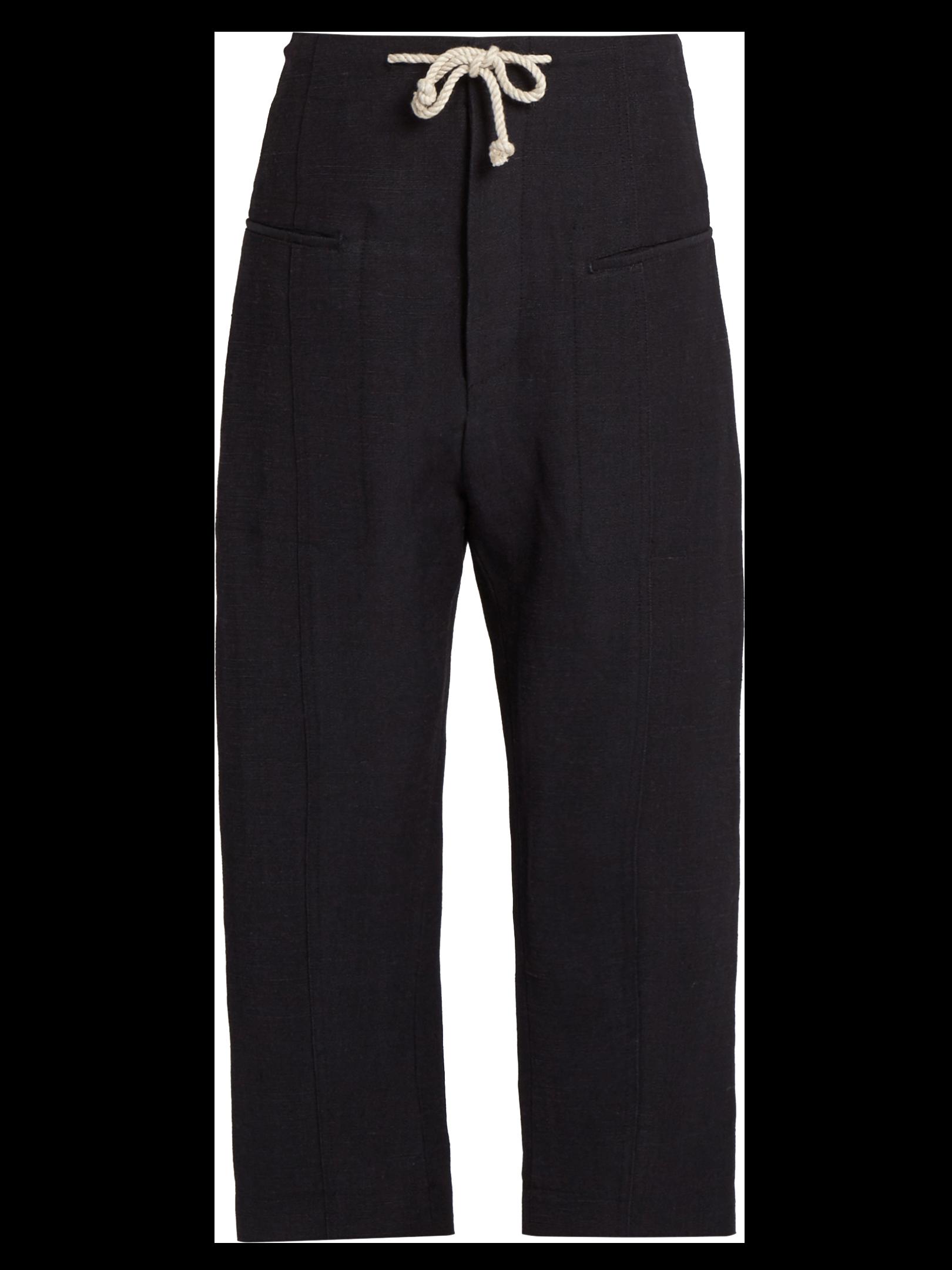 JOSEPH Ombria jute-blend trousers