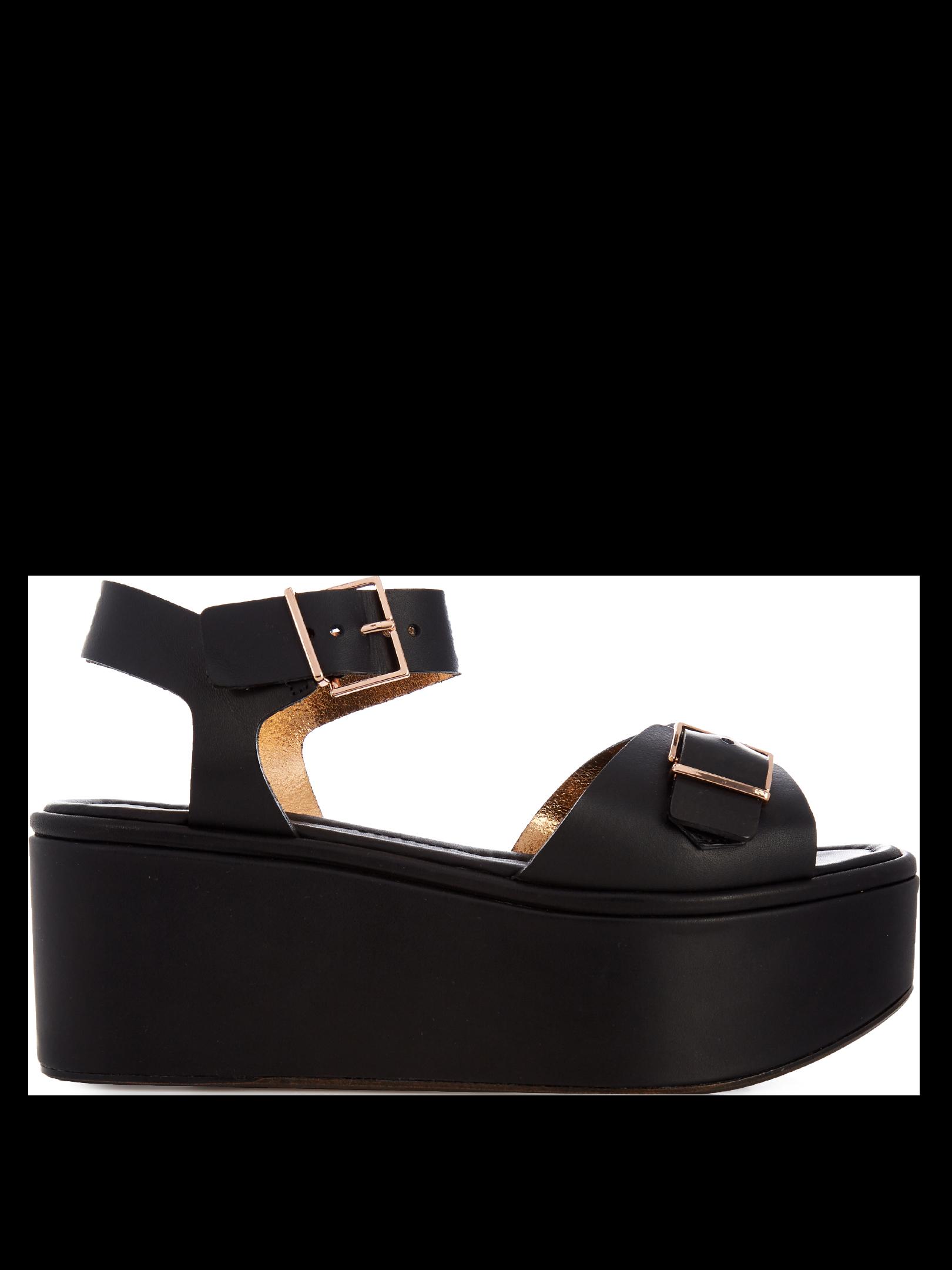 ROBERT CLERGERIE Feitv leather platform sandals