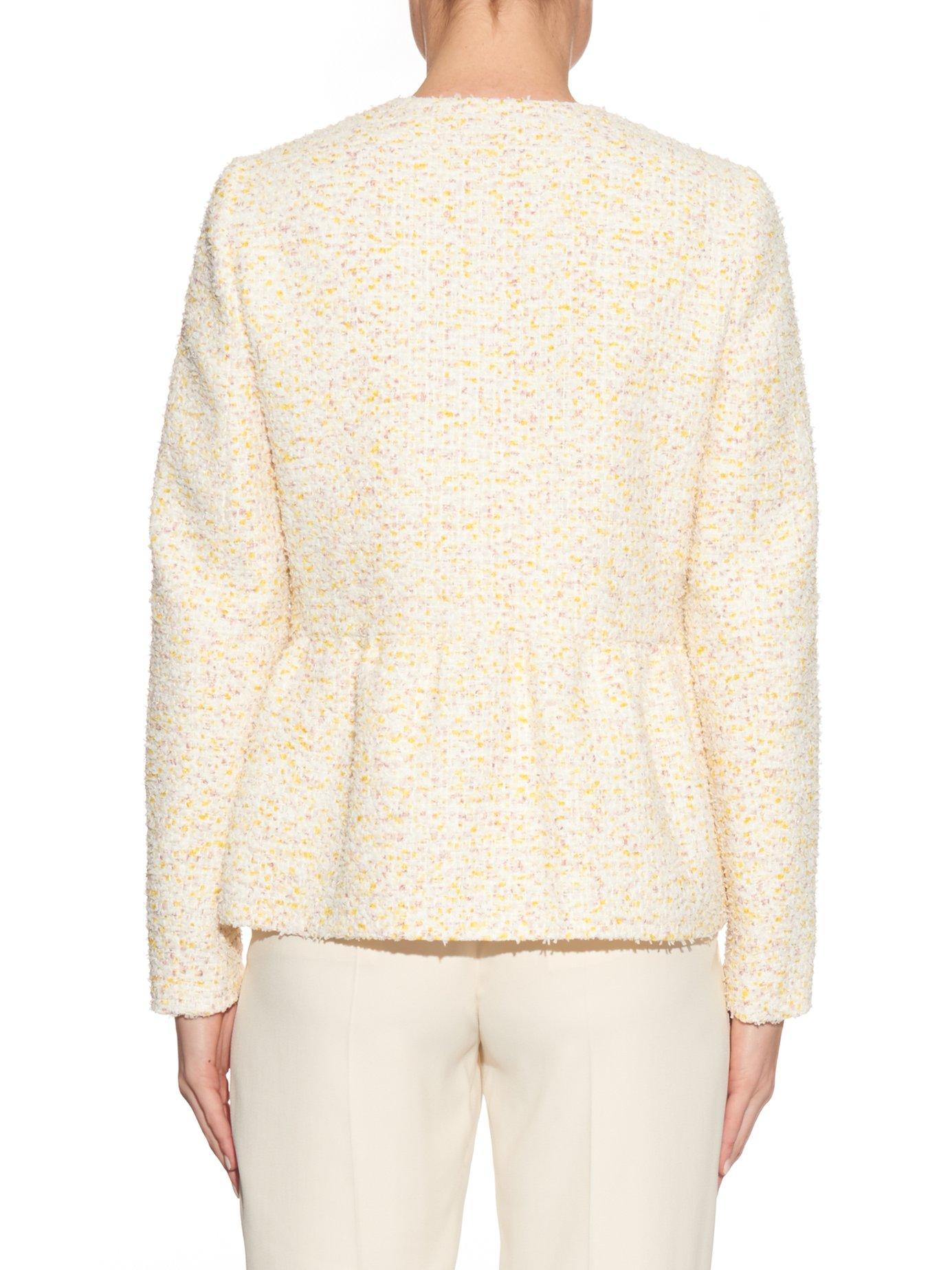 Peplum tweed jacket by Giambattista Valli