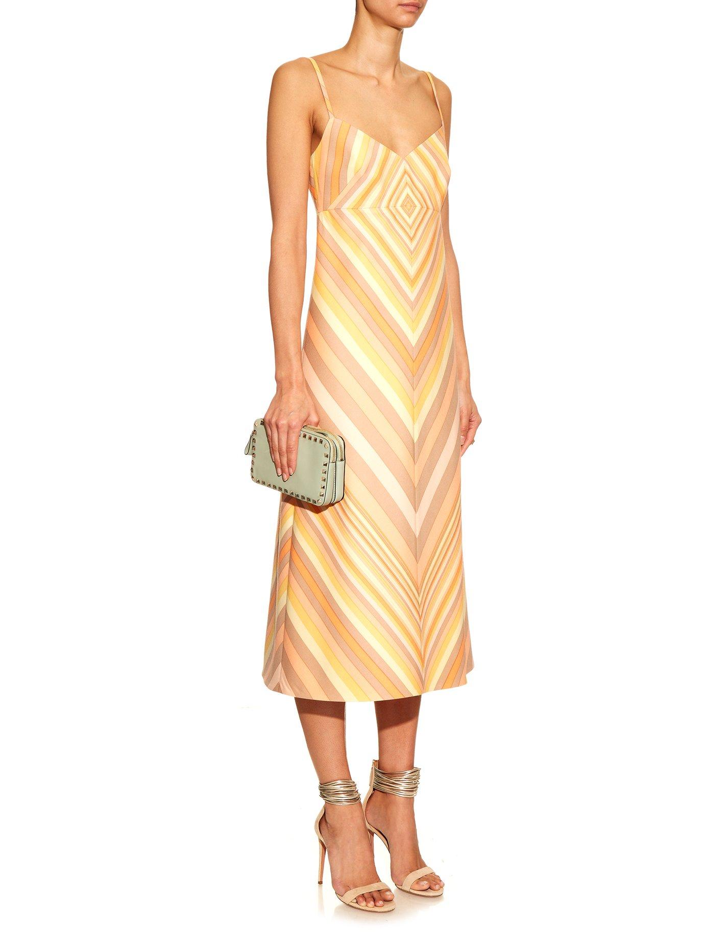 Native Couture 1975-print midi dress by Valentino