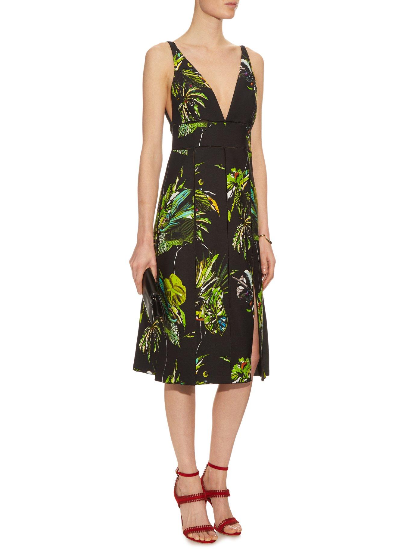 Tropical-print cut-out dress by Proenza Schouler