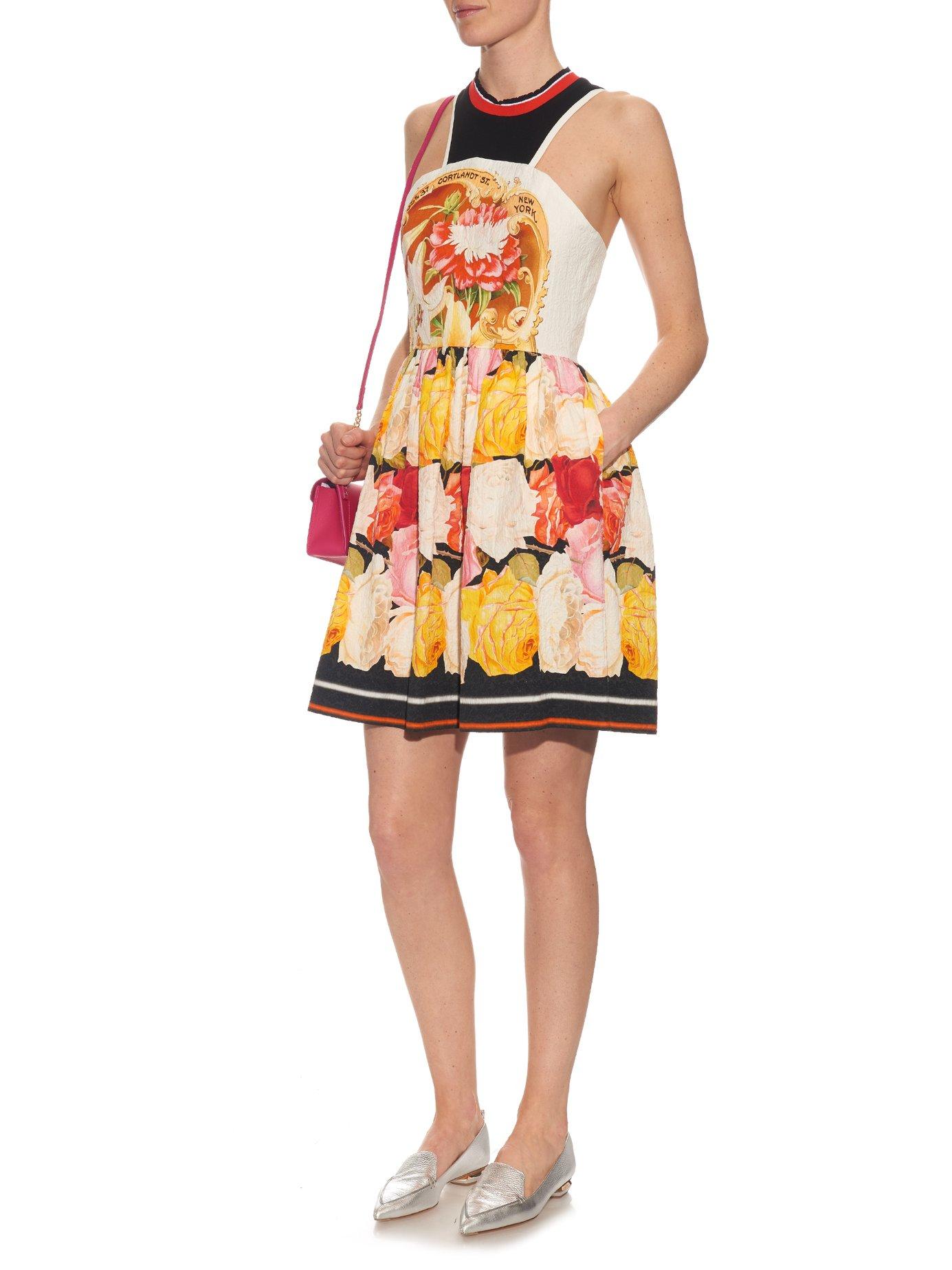 Densis Rosa Alba-print mini dress by Mary Katrantzou