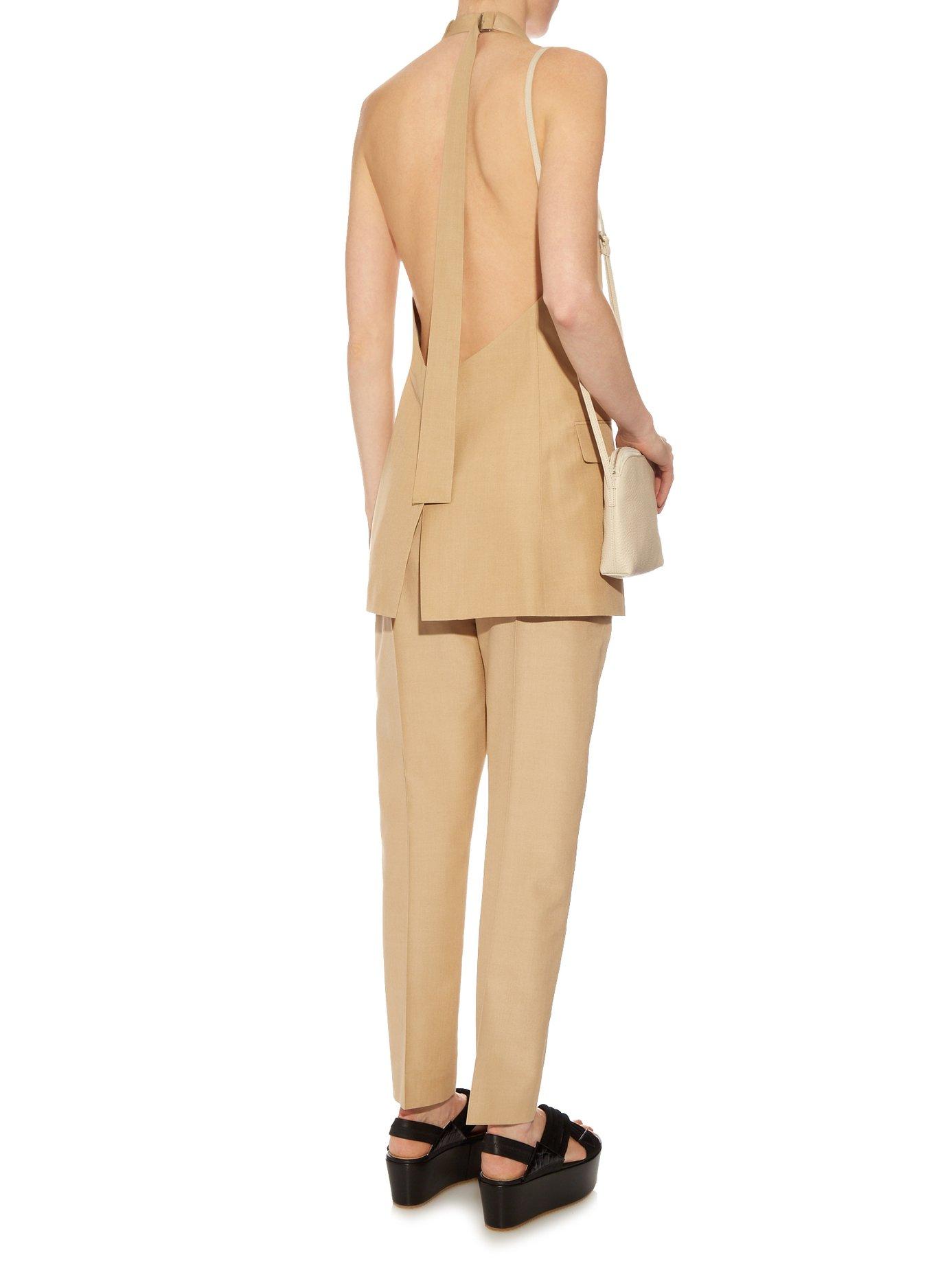 Agassi Tussa silk sleeveless jacket by Jil Sander