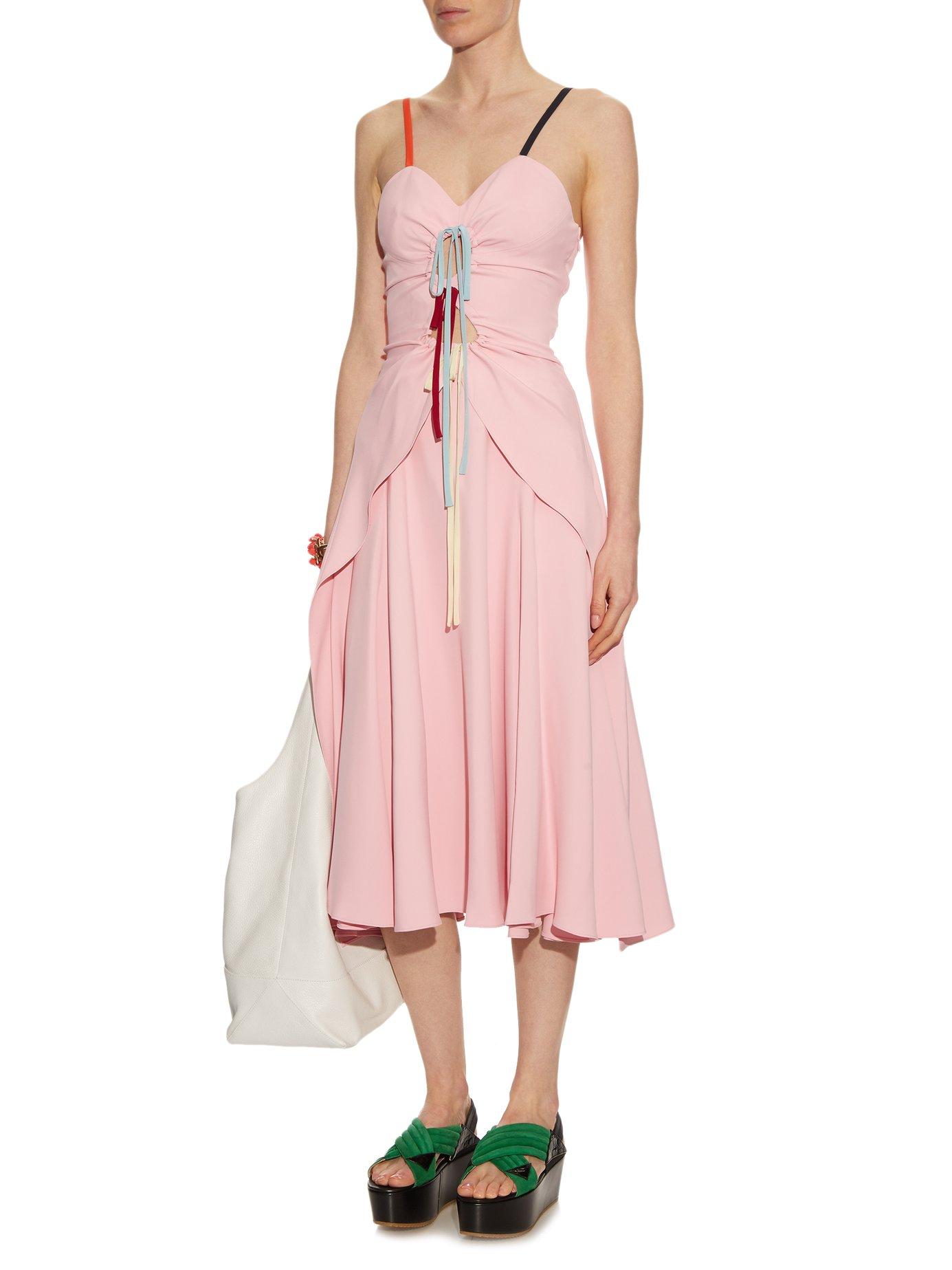 Holy Moley cut-out cady midi dress by Rosie Assoulin