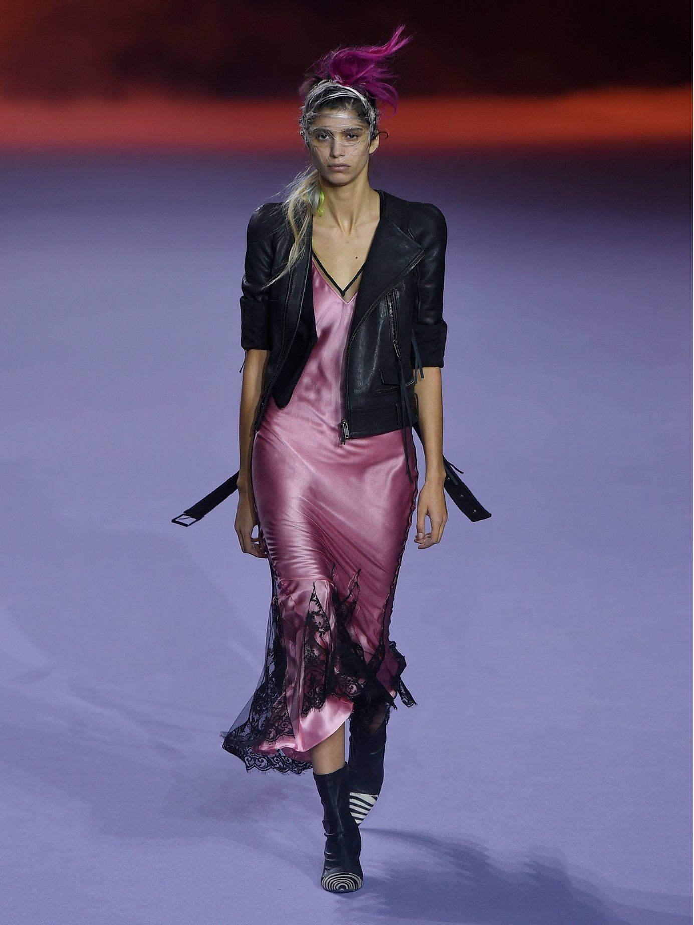 Taranis mesh overlay cocktail dress by Haider Ackermann