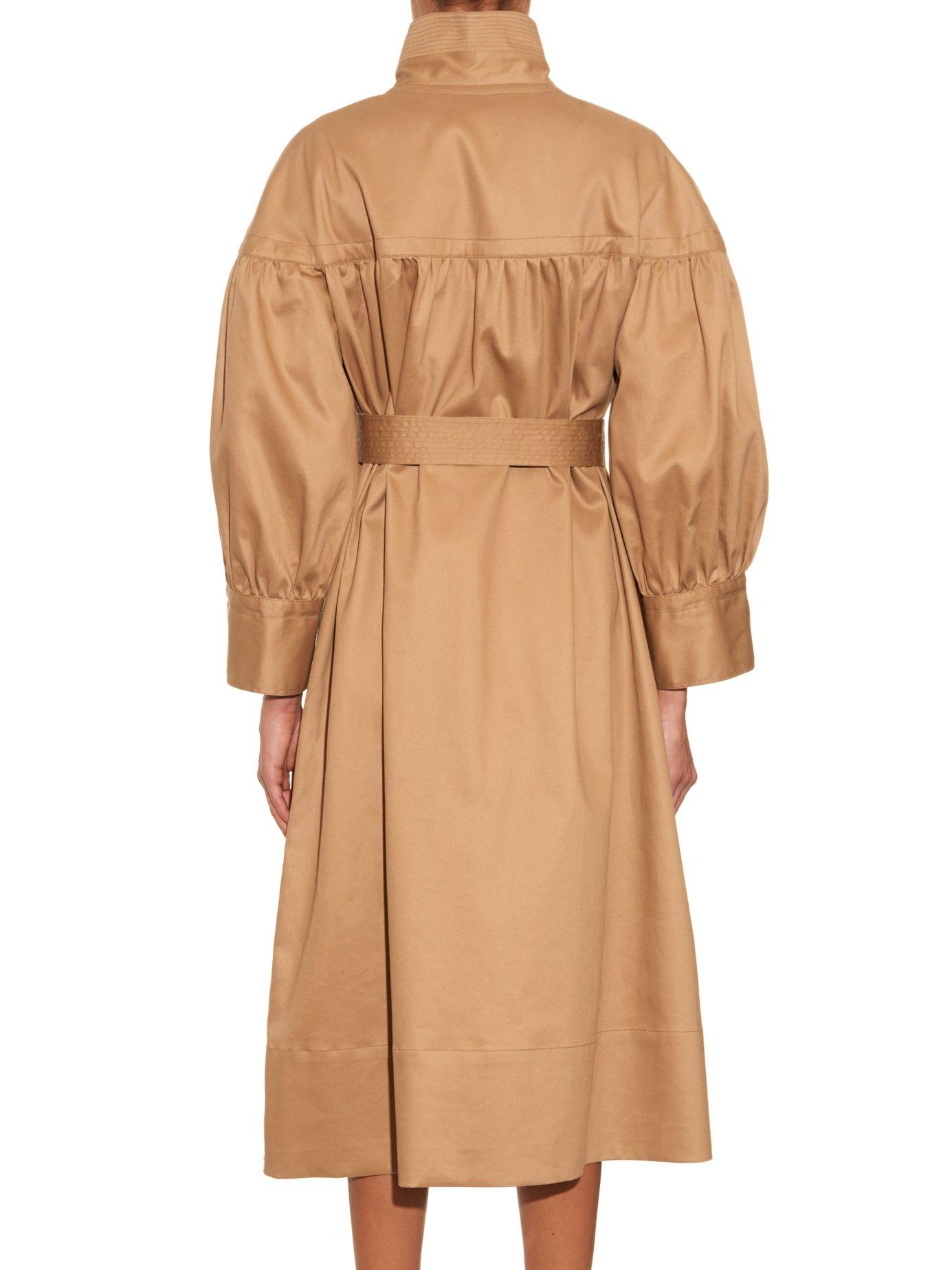 Photo of Painter single-breasted cotton coat by Mafalda Von Hessen - shop Mafalda Von Hessen jackets and coats sales