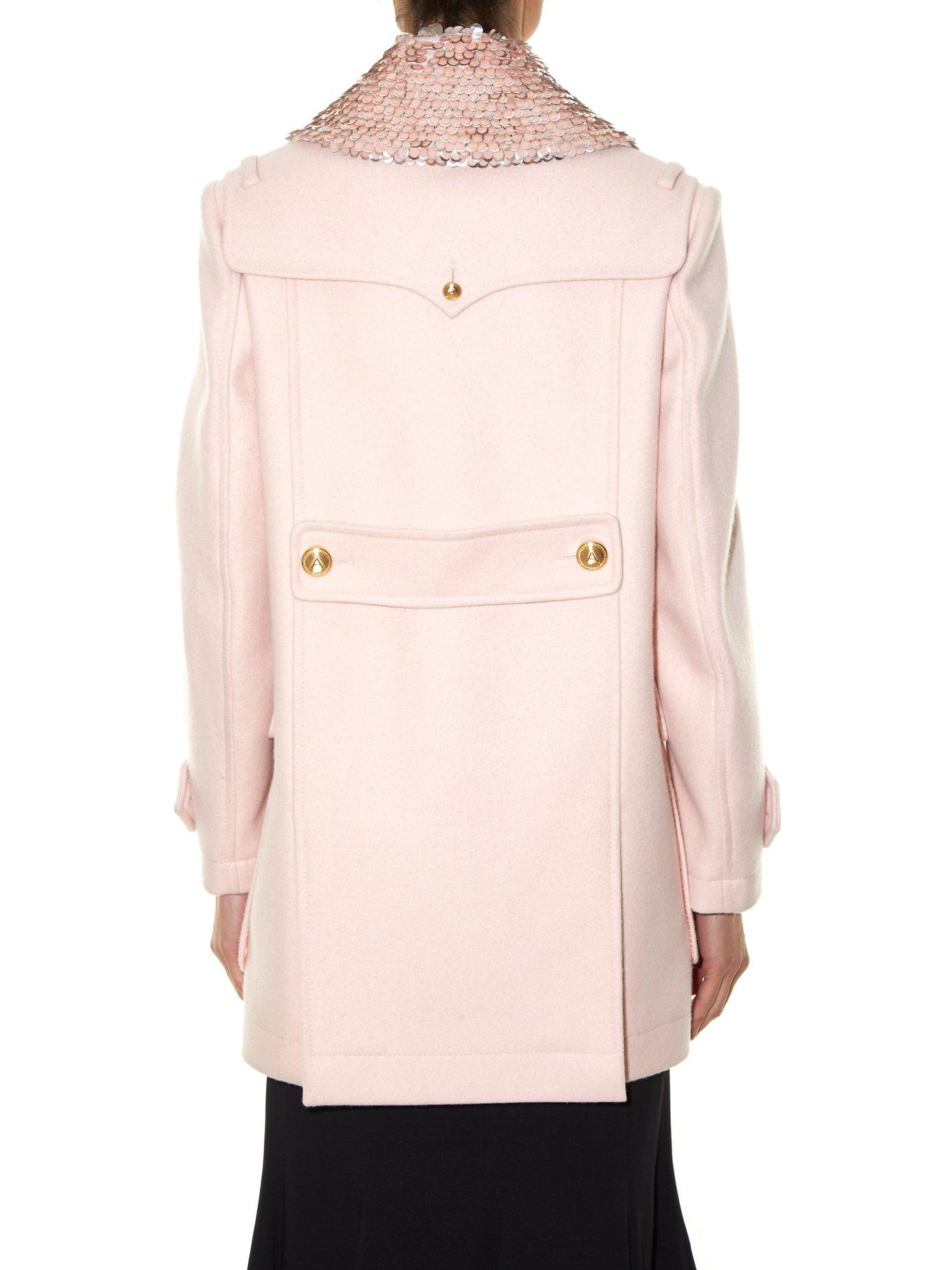 Charles detachable-collar wool-blend coat by Altuzarra