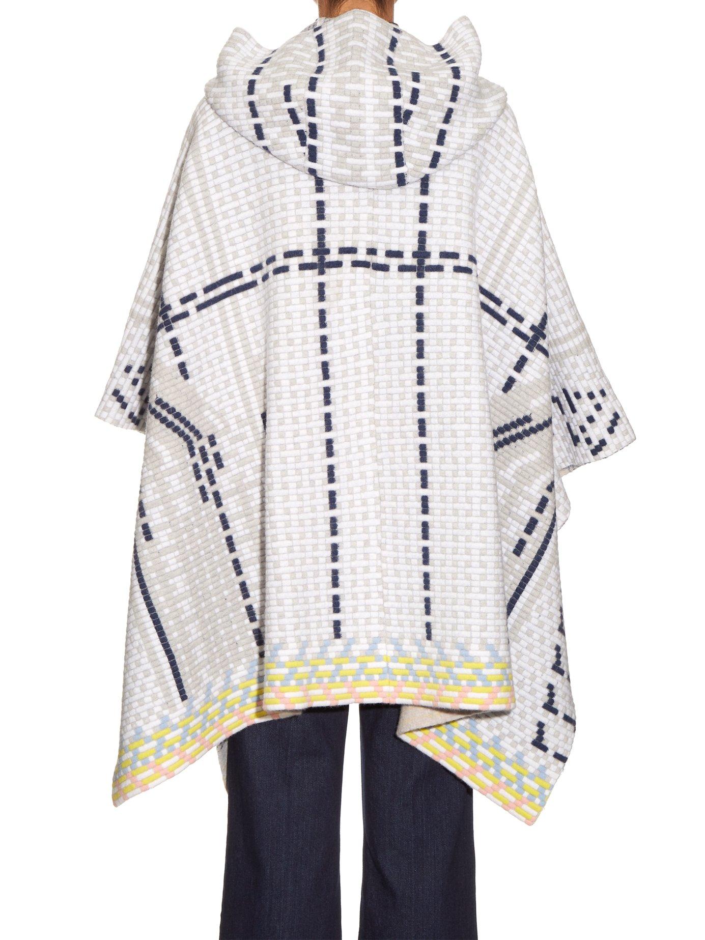 Ottaman knit wool-blend cape by Peter Pilotto