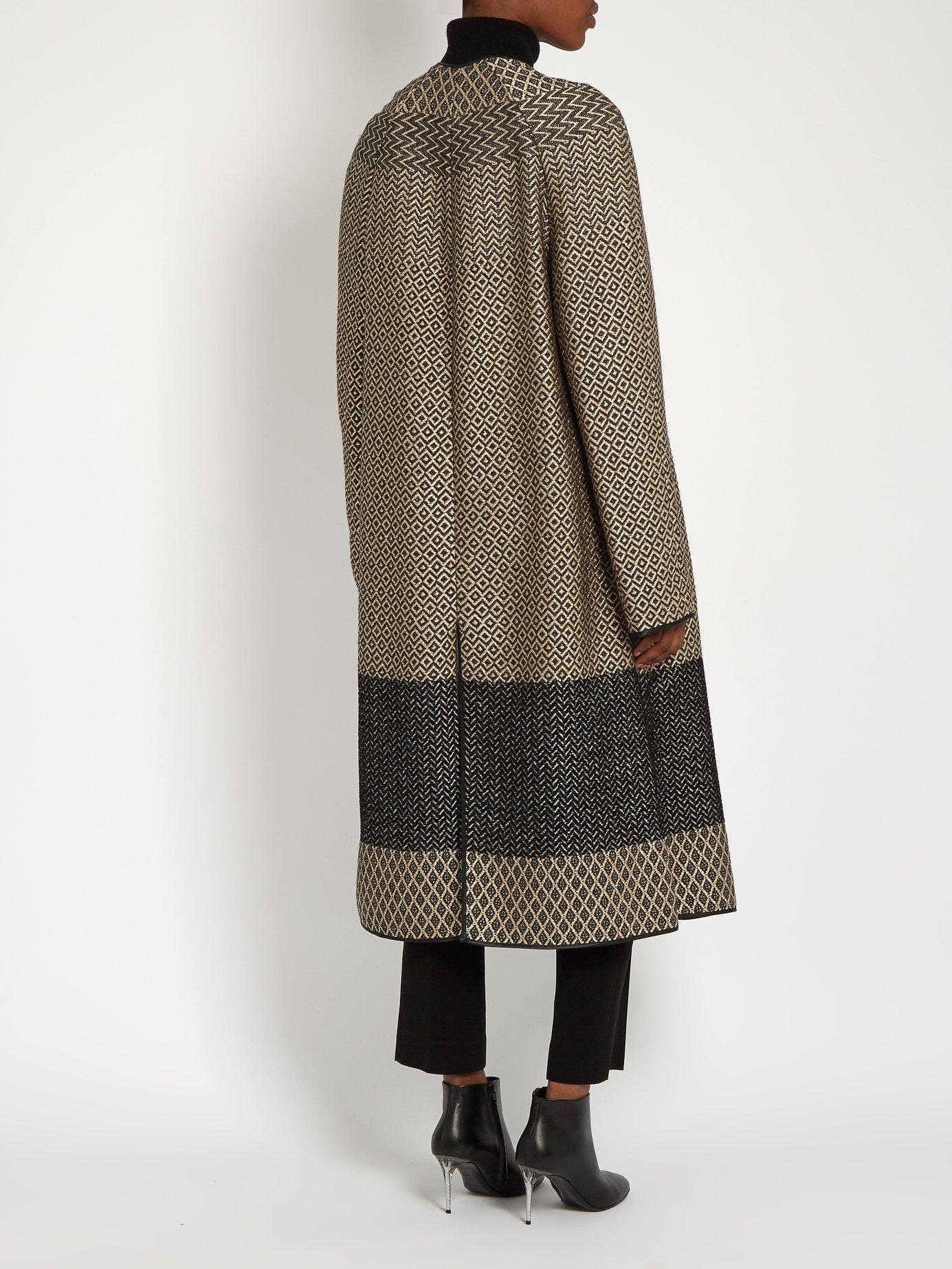 O'Hara collarless brocade coat by Haider Ackermann