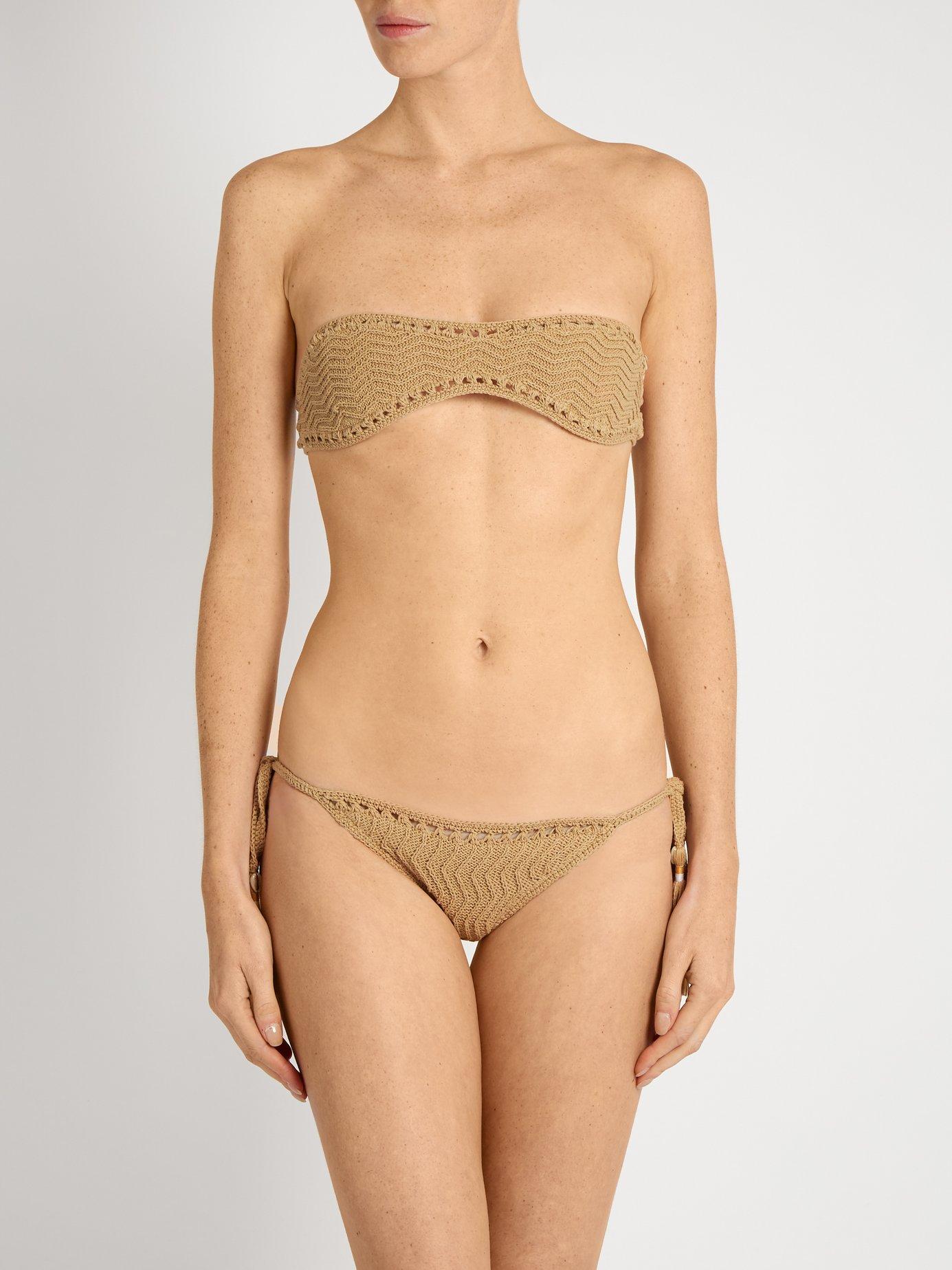 Laharia Tie-Side crochet bikini briefs by She Made Me