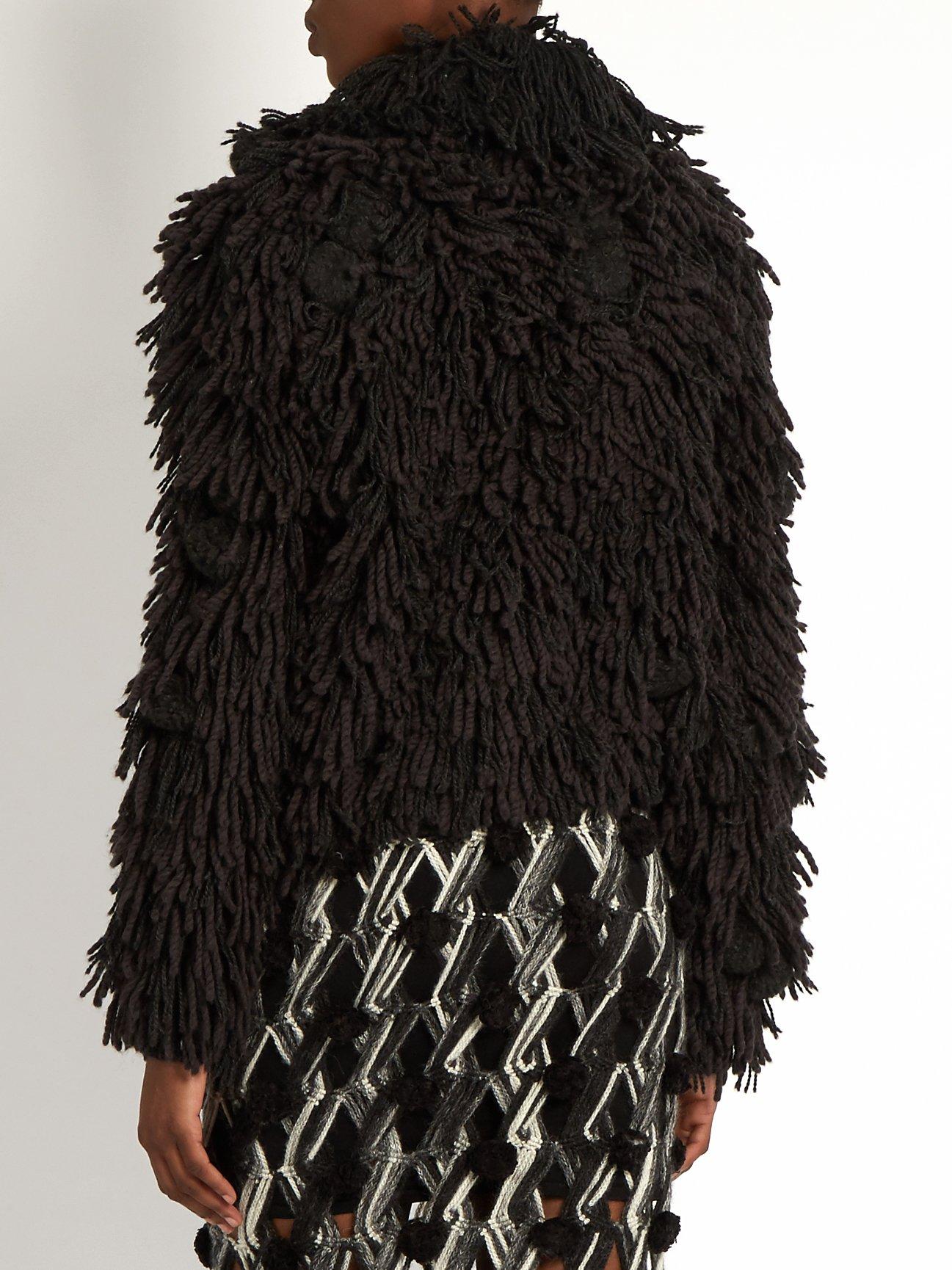 Mala hand-fringed alpaca-blend bomber jacket by Tabula Rasa