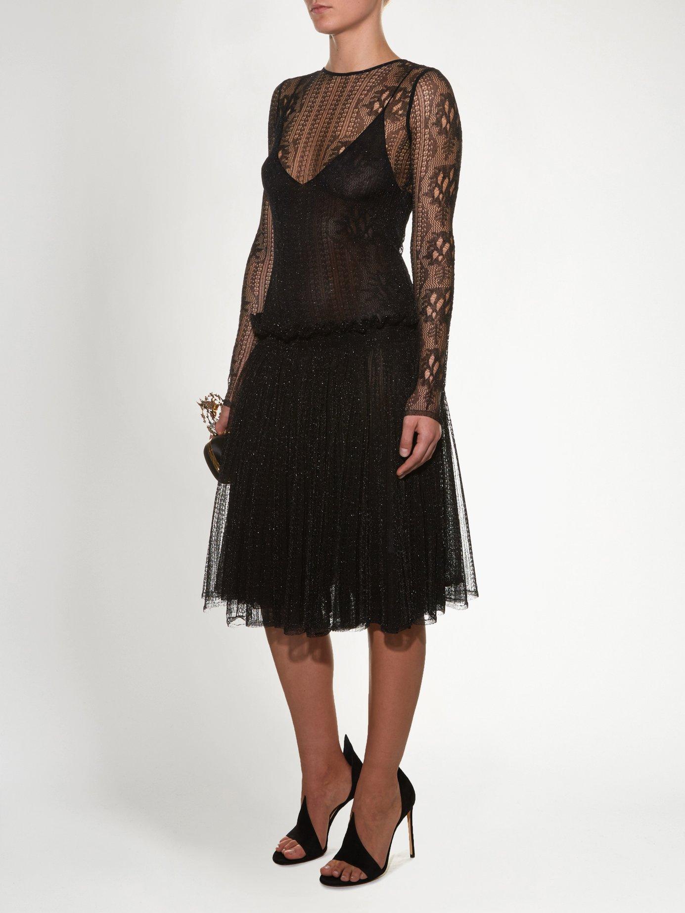 Dropped-waist lace dress by Alexander Mcqueen