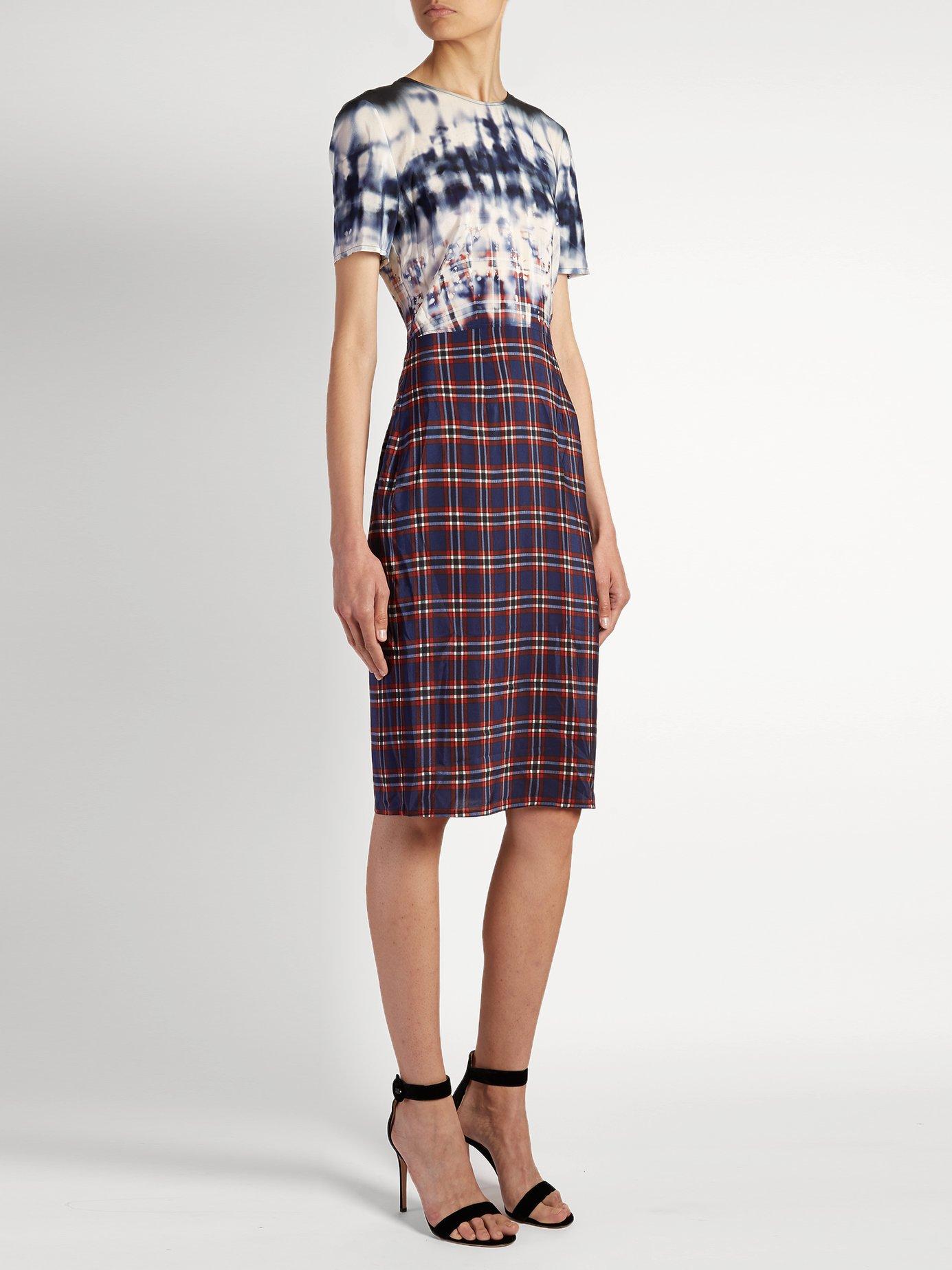 Glaze tie-dye and checked dress by Altuzarra